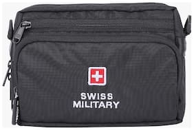 Swiss Military Black Waist Pouch For Men