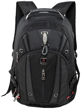 Swiss Military Black Polyester Backpack