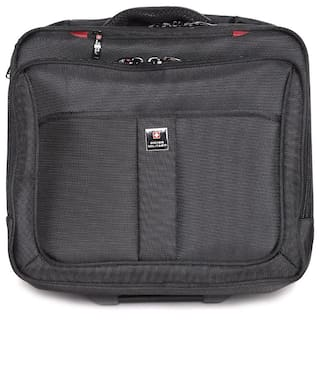 73453061d9 SWISS MILITARY ABS+POLYESTER OVERNIGHTER LAPTOP TROLLEY BAG -LTB3 (LTB3)