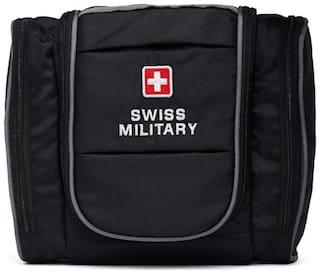 Swiss Military Black Toiletry Bag (TB-6)
