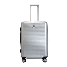 Swiss Military Large Size Hard Luggage Bag - Silver , No Wheels