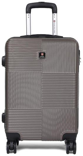 Swiss Military HTL80 Hard Luggage Cabin Size Hard Luggage Bag ( Grey , 8 Wheels )