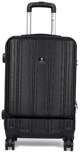 Swiss Military HTL79 Hard Luggage Cabin Size Hard Luggage Bag ( Black , 8 Wheels )
