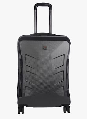 Swiss Military Large Size Hard Luggage Bag - Black , 4 Wheels