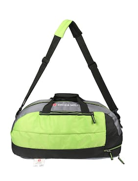 Swiss Military Polyester 56 cms Green and Grey Travel Duffel (LBP23)