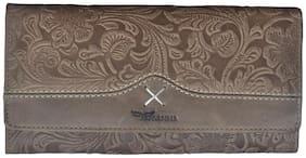 Tamanna Women Brown Leather Wallet