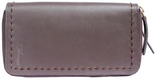 Tamanna Women Leather Wallet - Brown