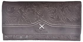 Tamanna Women Leather Wallet - Brown
