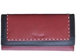 Tamanna Women Maroon Leather Wallet
