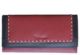 Tamanna Women Leather Wallet - Maroon