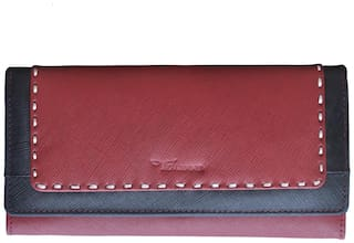 Tamanna Women Maroon Leather Wallet