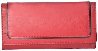 Tamanna Women Leather Wallet - Red