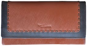 Tamanna Women Leather Wallet - Tan