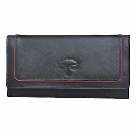 Tamanna Women Leather Wallet - Black