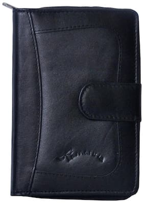 Tamanna Women Leather Wallet - Black