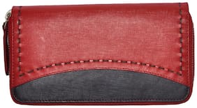 Tamanna Women Red Leather Wallet