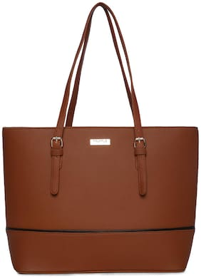 Truffle Collection Faux leather Women Handheld bag - Brown