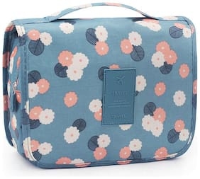 Techtest Travel Cosmetic Makeup Toiletry Case Wash Organizer Storage Pouch Toiletry Bag Travel Organizer Toiletry Kit Travel Bag Travel Toiletry Bag for Women (Sky Blue)