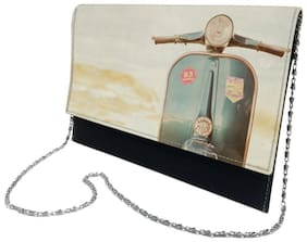 The Backbencher Women Solid Faux Leather - Clutch Multi