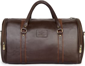 The Clownfish Faux leather Men Gym bag - Brown