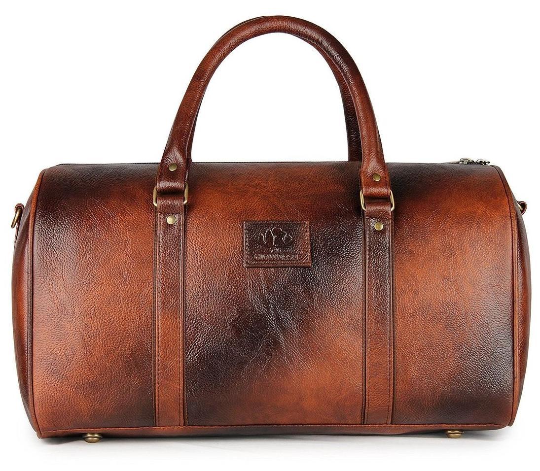 The Clownfish Unisex Faux Leather Zebra Series Travel Duffle Luggage Bag Cabin Bag Weekender Bag  Brown Black