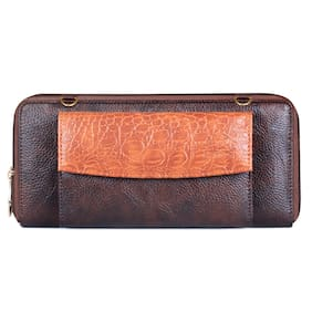 The Clownfish Women Brown Synthetic Leather Wallet