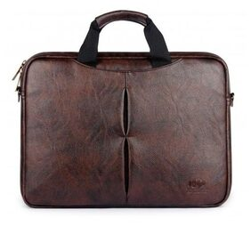 The Clownfish 33.02 cm (13 Inch) / 35.56 cm (14 Inch) Vegan Leather Laptop Bag | and |Tablet Bag | Macbook Pro | Macbook Air Laptop Bags| Laptop bag | Briefcase Bag| Slim Bag| (Dark Brown)