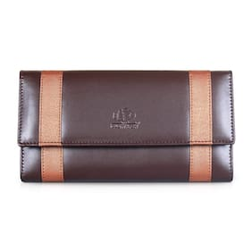 The Clownfish Women Brown Synthetic Wallet