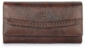 The Clownfish Women Brown Leather Wallet