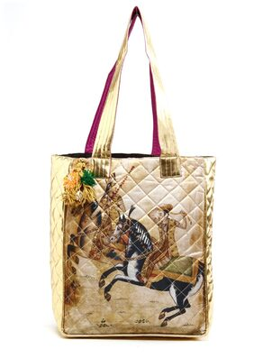 The House of Tara Women Faux Leather Tote Bag - Yellow