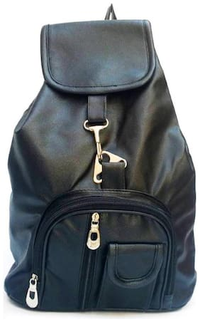 the maxim black pithu casual backpacks non leather pithu