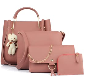 The Mini NEEDLE Pink PU Shoulder Bag