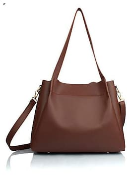 The Mini NEEDLE Tan PU Shoulder Bag