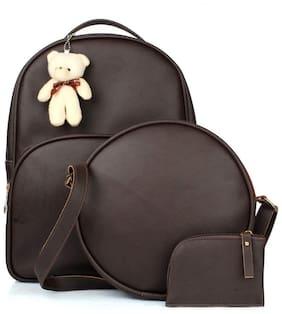 The Mini NEEDLE Brown PU Backpack