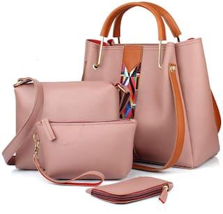 The Mini NEEDLE Medium Striped Shoulder Bag Pink