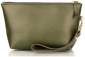The Mini Needle Cosmetic Pouch Green