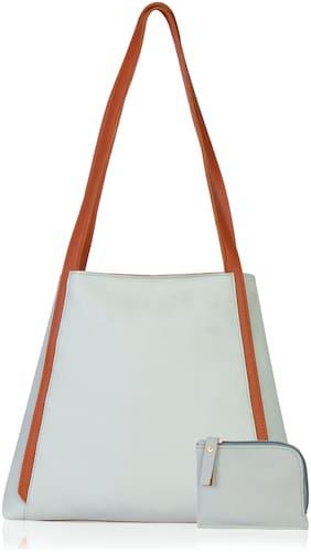 Medium Shoulder Bag ( Green;Tan )