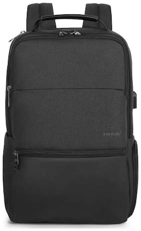 tigernu Tigernu Waterproof Large Capacity 15.6 inch Unisex Anti Theft Laptop Backpack with USB Charge Port Travel Bag (Black) Small (Upto 17 inches) Waterproof Laptop Backpack - Black
