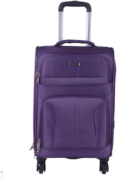 TIMES BAGS Large Size Soft Luggage Bag ( Purple , 4 Wheels )
