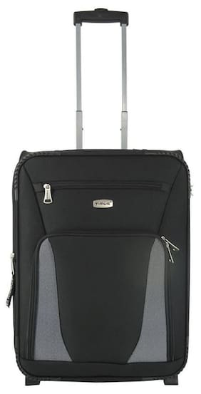 3dfc822d59fb TIMUS MOROCCO UPRIGHT BLACK 2 WHEEL STROLLEY SUTICASE FOR TRAVEL (CABIN -SMALL  LUGGAGE)