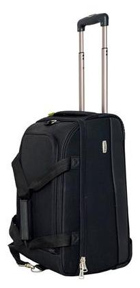 TIMUS EQUATOR BLACK 2 WHEEL DUFFLE TROLLEY BAG FOR TRAVEL (CABIN -SMALL LUGGAGE)