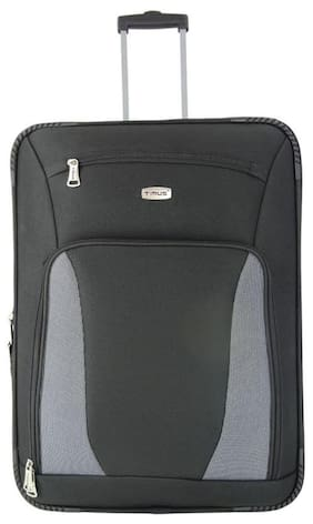 TIMUS MOROCCO UPRIGHT BLACK 2 WHEEL STROLLEY SUTICASE FOR TRAVEL