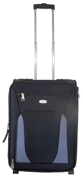 TIMUS MOROCCO UPRIGHT BLUE 2 WHEEL STROLLEY SUTICASE FOR TRAVEL (CABIN -SMALL LUGGAGE)