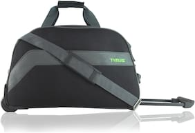 TIMUS Cabin Size Soft Luggage Bag - Black , 2 Wheels