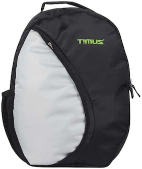 TIMUS Black Polyester Backpack