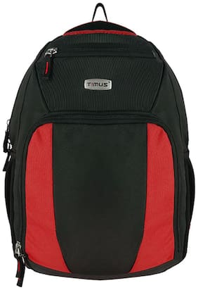 TIMUS Red Waterproof Polyester Backpack
