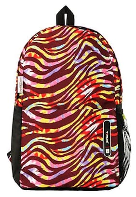 Timus Indigo Polyester 19 litres Multi Color Casual Backpack