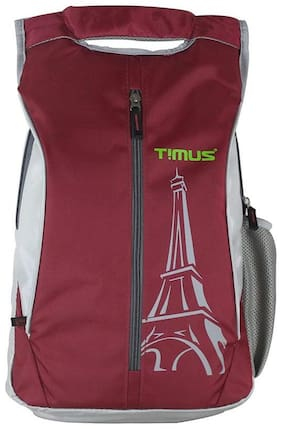 TIMUS Red Polyester Backpack