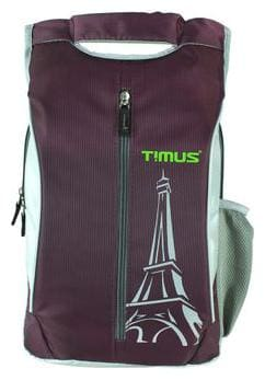 TIMUS Purple Polyester Backpack