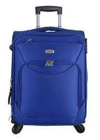TIMUS UPBEAT SPINNER BLUE 4 WHEEL STROLLEY SUITCASE FOR TRAVEL